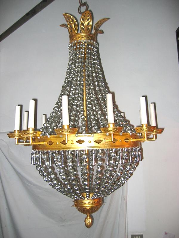 lampadario modello oro zecchino COD05