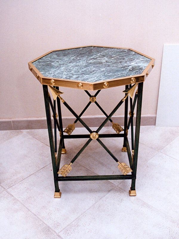 tavolino esagonale IN FERRO E MARMO COD168