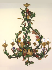 LAMPADARIO Con fiori policromi COD130