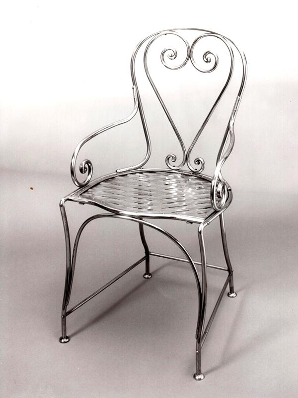 sedia sedile intrecciato in ferro cod103